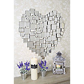 Large Beautiful Modern Heart Shape Venetian Wall Mirror 2Ft8 80Cm