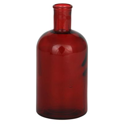 Red Recycled Glass Retro Bottle Small