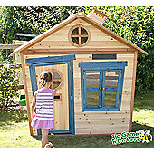 Redwood Mansion Wooden Playhouse