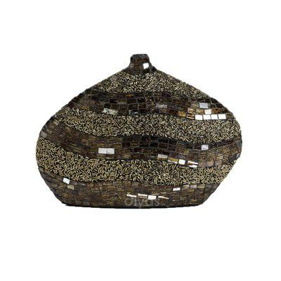 Ira Mosaic Small Vase Brown/Gold