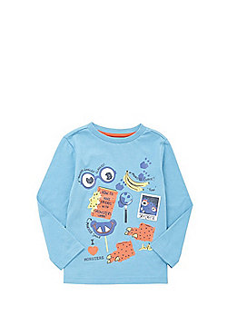 F&F Monsters Long Sleeve T-Shirt - Blue
