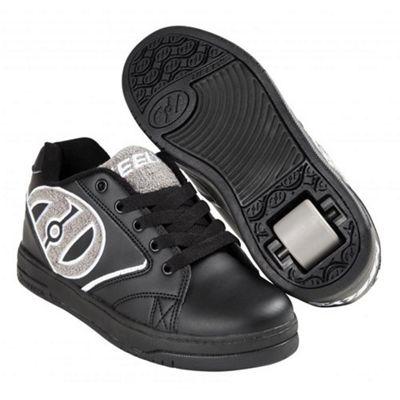 Heelys Propel Terry Black/Grey Terry Logo Kids Heely Shoe UK 4