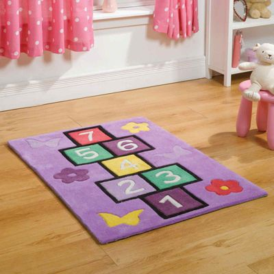 Play Hopscotch Rugs in Lilac110x160cm