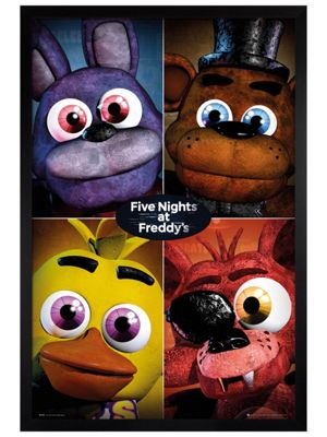 Black Wooden Framed Five Nights At Freddy's Quad Poster 61x91.5cm
