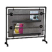 Magazine Rack Perforated Steel and Pipes