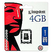 Kingston microSDHC 4GB Class 4 Card