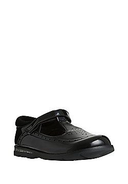 F&F Wide Fit Patent Mary Jane School Shoes - Black