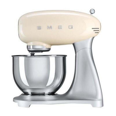 Smeg SMF01CRUK | 50's Retro Kitchen Style Cake & Dough Stand Mixer in Cream