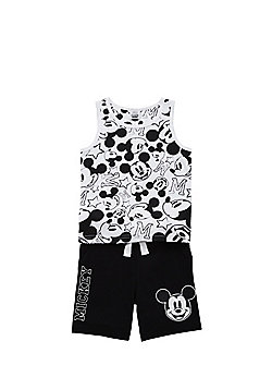 Disney Mickey Mouse Vest and Shorts Set - Black