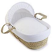 Clair de Lune Palm Moses Basket (Soft Waffle White)