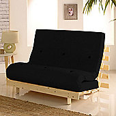 Happy Beds Metro Wooden Futon With Mattress - Black
