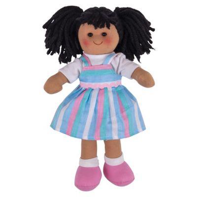 Bigjigs Toys Kira Doll 28cm - Ragdoll Cuddly Toy