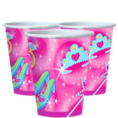 Princess Party Paper Cups 266ml - 8 Pack