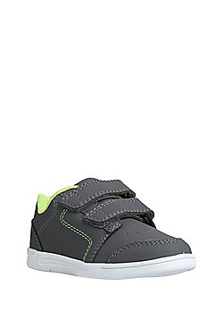 F&F Double Strap Trainers - Grey