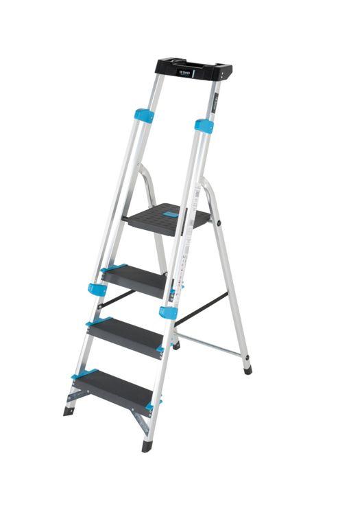 Pro Aluminium 4 Tread (Handrail & Tool tray) Platform Step Ladder
