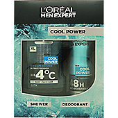 L'Oreal Paris Men Expert Cool Power Gift Set 300ml Shower Gel + 150ml Anti-Perspirant Spray