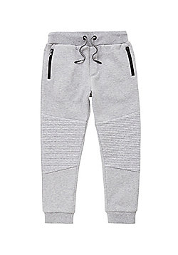 F&F Ribbed Knee Marl Joggers - Grey