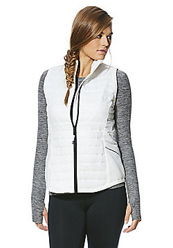 F&F Active Quilted Gilet - White