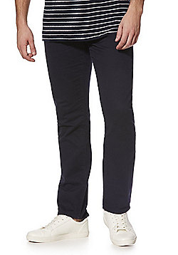 F&F 5 Pocket Straight Leg Chinos - Navy