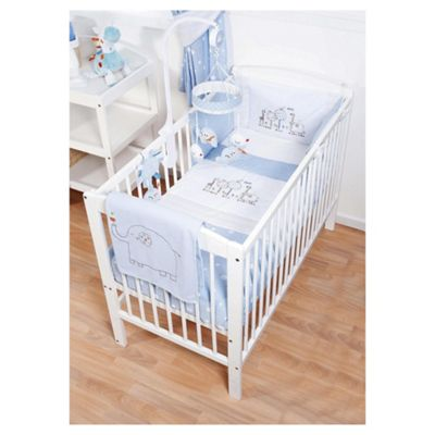 O Ernest Cosi Cot Bedding Blue