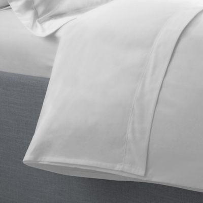 Ultrasoft Percale Flat Sheet - White - Double
