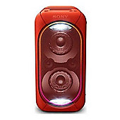 Sony GTK-XB60 High Power Portable Audio System with Bluetooth - Red