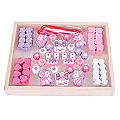 Bigjigs Toys Colourful Wooden Fairy Bead Box - Arts and Crafts