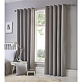 Fusion Sorbonne Eyelet Curtains - Silver