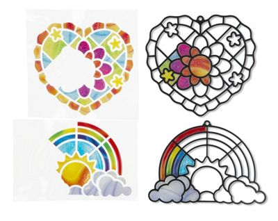 Melissa & Doug Stained Glass Made Easy Activity Kit: Heart And Rainbow