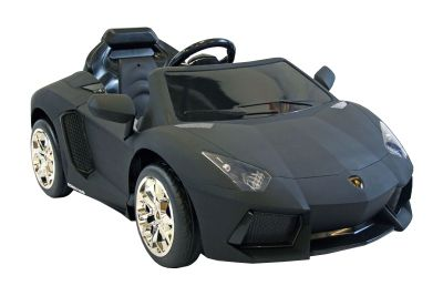 Kids Electric Car Lamborghini Aventador 12 Volt Black Matte