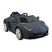 Kids Electric Car Lamborghini Aventador 12 Volt Black Matte