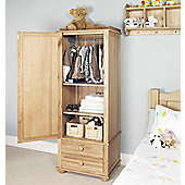 Amelie Oak Childrens Single Wardrobe Brown - Baumhaus