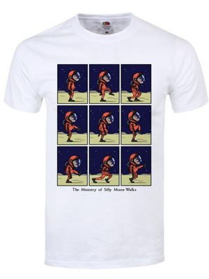 The Ministry Of Silly Moon Walks Men's White T-shirt