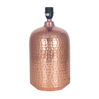 Copper Hammered Capsule Pot Table Lamp
