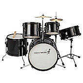 Stagg TIM J 5 Piece Junior Drum Kit – Black – with 6 Months Free Online Music Lessons