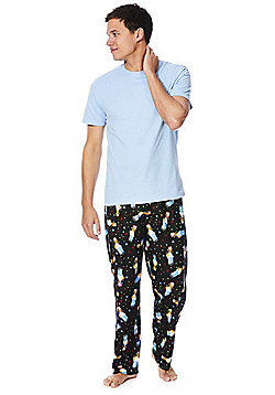 The Simpsons Homer Short Sleeve T-Shirt Loungewear Set - Multi