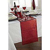 "Hamilton McBride Let's Party Red Christmas Table Runner - 33x183cm (13x72"")"