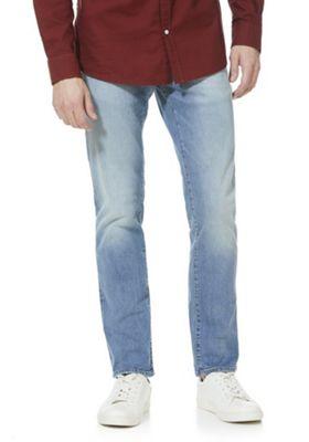 F&F Stretch Slim Leg Jeans Light Wash 34 Waist 30 Leg