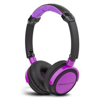 ENERGY SISTEM Energy DJ 400 Deep Bass DJ Style Headphone, Black Violet 384105