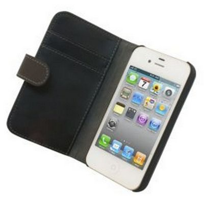 Tortoise™ Genuine Leather Folio Case iPhone 4/4S Black