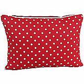 Homescapes Cotton Red Hearts and Polka Dots Scatter Cushion, 30 x 50 cm