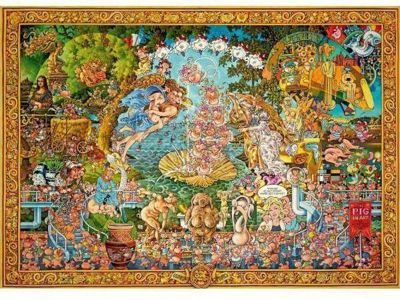 The Pig in Art - 4000pc Puzzle
