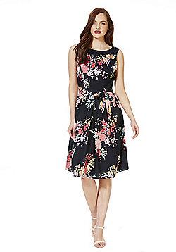 F&F Botanical Print Sleeveless Prom Dress - Multi