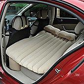 Outsunny Car Travel Inflatable Mattress w/ Air Pump and Pillows (Cream White)