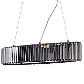 Litecraft Francis 7 Bulb Chisel Bar Ceiling Pendant, Smoke