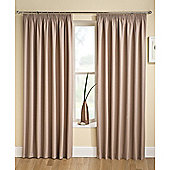 Enhanced Living Tranquility Latte Pencil Pleat Curtains - 66x72 Inches (168x183cm)