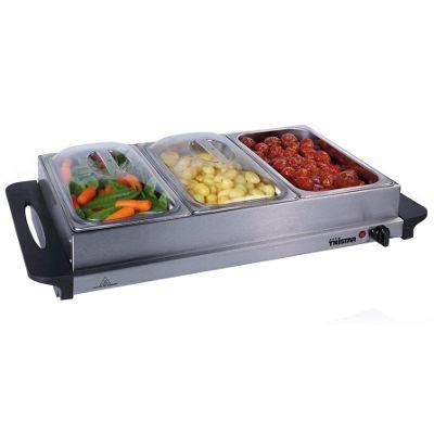 Premium Large Buffet Warmer u0026 Server Hot Plate - 3 x 2.5lt capacity and Keep  sc 1 st  Tesco & Buy Premium Large Buffet Warmer u0026 Server Hot Plate - 3 x 2.5lt ...