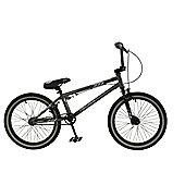 "Zombie Bones 25/9 20"" Wheel Freestyle BMX Bike Grey"