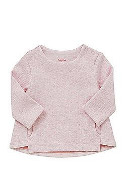 F&F Rib Knit Faux Fur Lined Sweatshirt - Pink