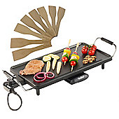 VonShef Electric Large Teppanyaki Style Barbecue Table Grill - 2000W